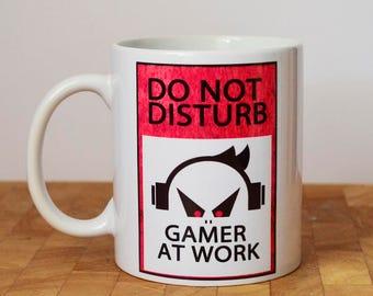 Gamer At Work Mug, Do Not Disturb Mug, Gift For Him