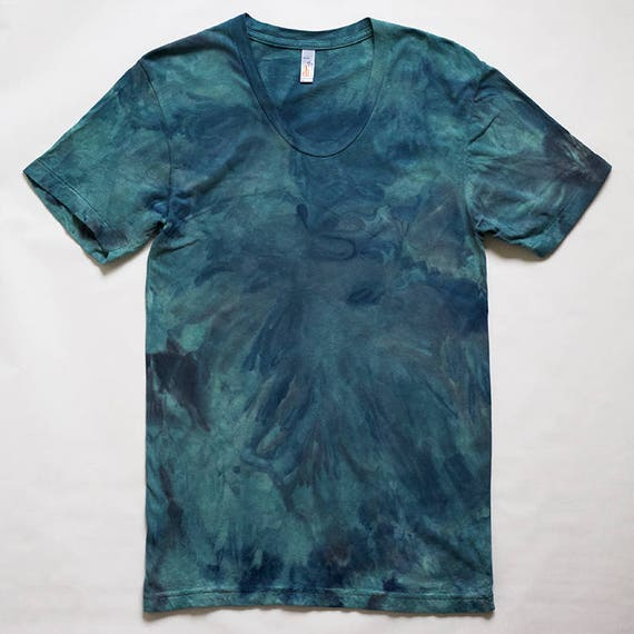 M Green & Blue Watercolor T-Shirt