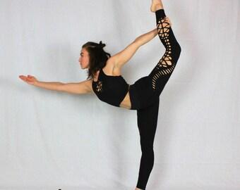 """Braided Leggings//Yoga//Festival//dance """"Pixie"""""""