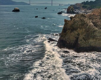 California coastline with the Goldengate Bridge