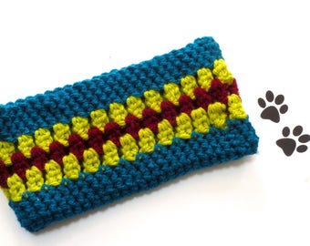 Dog Scarf Neck Warmer Cowl Pet Neckwarmer Turquoise Green Burgundy Dog Collar Pet Cat Dog Clothes Puppy Accessories Winter Cowl Crochet