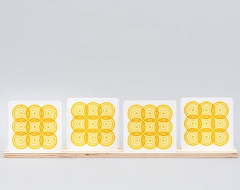 Sella Coaster - Yellow (pack of 4)