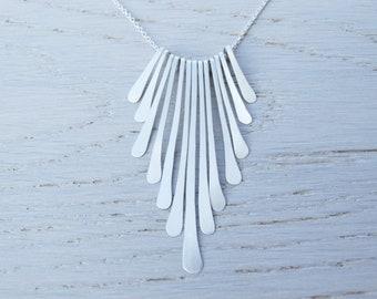 Delicate Sterling Silver Fringe Necklace