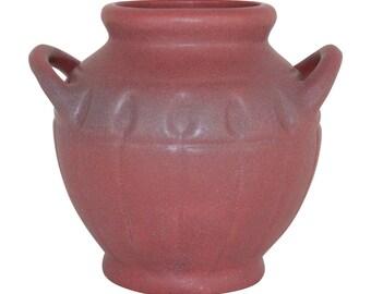 Van Briggle Pottery 1940s Persian Rose Handled Vase Shape 808