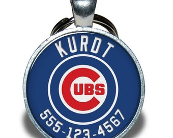 Pet ID Tag - Chicago Cubs (Home) *Inspired* - Dog tag, Cat Tag, Pet Tag