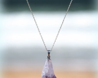 Rough Amethyst Necklace // Raw Amethyst Jewelry // Natural Amethyst Pendant
