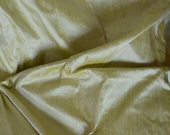 Silk Dupioni in Pista green,Half yard,Extra wide 54 inches, DEX -168