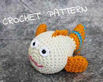 Amigurumi Fish Tutorial : Crochet fish pattern etsy