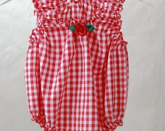 Sassy Sun Suit (Red Gingham)