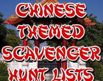 Chinese Themed Scavenger Hunt List Collection