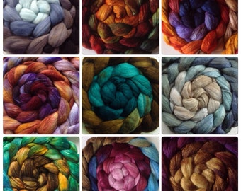 FiberArtemis Chameleon Gradient Roving Club 3 months membership Price INCLUDES INTERNATIONAL shipping