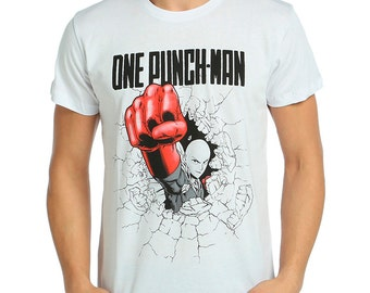 One-Punch Man Tshirt -White T shirt-Every Size-Anime T shirt-T shirt-Anime-Manga-DECORAMİA