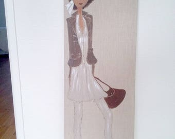 female mannequin made of acrylic painting