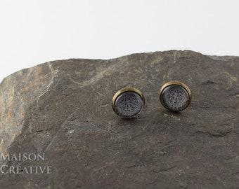 Earrings Bronze Aztec Pattern