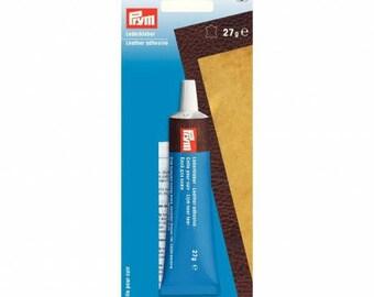 Glue on the leather tube Prym