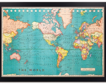 Corkboard map etsy popular items for corkboard map gumiabroncs Gallery