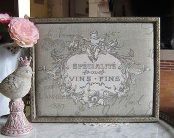 """Frame shabby chic """"specialty wines"""""""