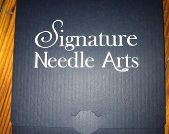 Signature Needle Arts Double Point Needles.