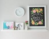 Kitchen Chalkboard Art - Chalk Art - Kitchen Art - Chalkboard Art - Fresh Start- Motivational Print - Kitchen Print - Hand Lettered Art