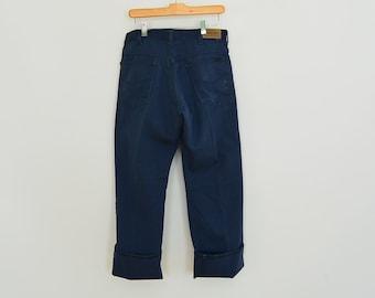 Vintage Genuine Roebucks Indigo Jeans/Work Pants 33/30 Scovill Zipper 80's Era Perma-PrestTag Sears Roebucks and Co