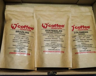 Coffee gift sets hamper. single origin coffee packs- Freshly roasted, Wrapped