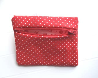Small red and white Purse