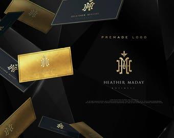 Luxury  Custom Monogram, Custom Logo Design, Premade Gold Foil Logo, Photography Logo, Watermark,Wedding Logo, Chic, Vintage, Initials,