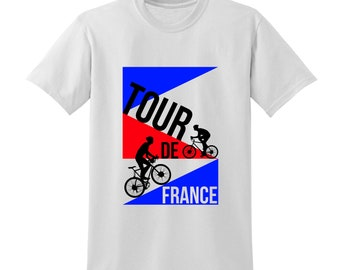 Tour De France Tshirt Commemorative Bike Race Cycling Competition Sports