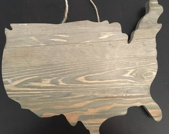 USA Wooden Wall Decor