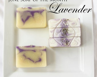 Lavender Essential Oil Cold Processed Soap
