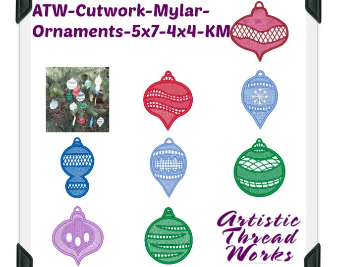 Cutwork-Mylar-Ornaments-5x7-4x4 ( 7 Machine Embroidery Designs from ATW )