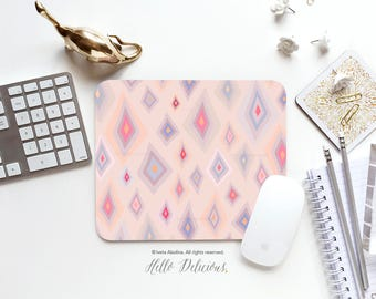 Mousepad Moroccan Geometric Mouse Mat Coral Mousepad Office Mousemat Rectangular Morocco Pattern Mousepad Round 88.