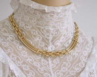 1950's 1960's Golden Link Vintage Choker Necklace 17 Inch VintageAgelessThings