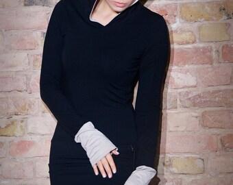 Hoodie Dress Buthan Black / Hooded dress