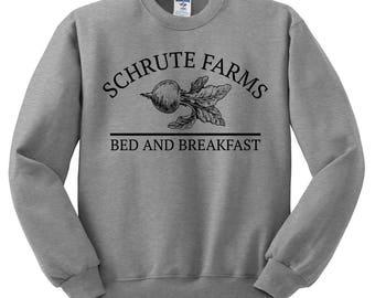 Schrute Farms Sweatshirt - Dunder Mifflin Shirt, The Office Shirt, Dwight Schrute, Michael Scott, Jim Halpert, The Office Sweater