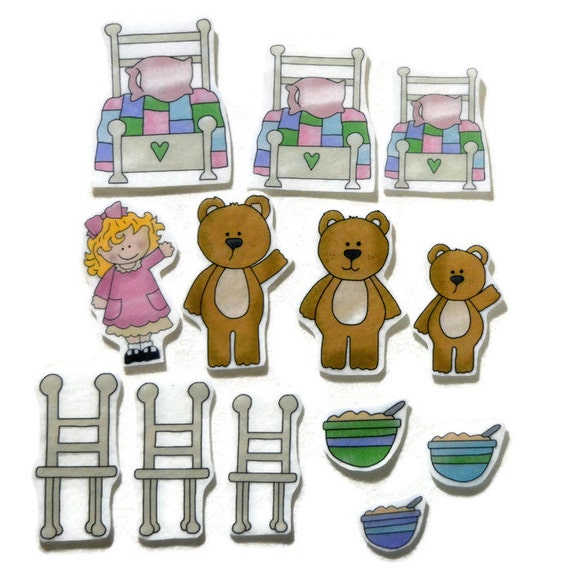 Lively image inside goldilocks and the three bears story printable