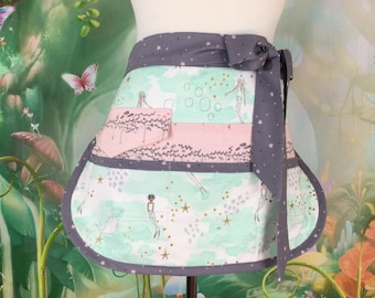 Mermaids Half Vendor/Utility Sassy Apron, Womens Regular and Plus Sizes, 6/8 Pockets, great for Teachers, Gardening, Crafts