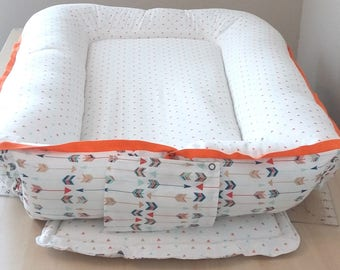 Cordless Baby Nest / Babynest with Colorful Arrows shipped within US/U.S.