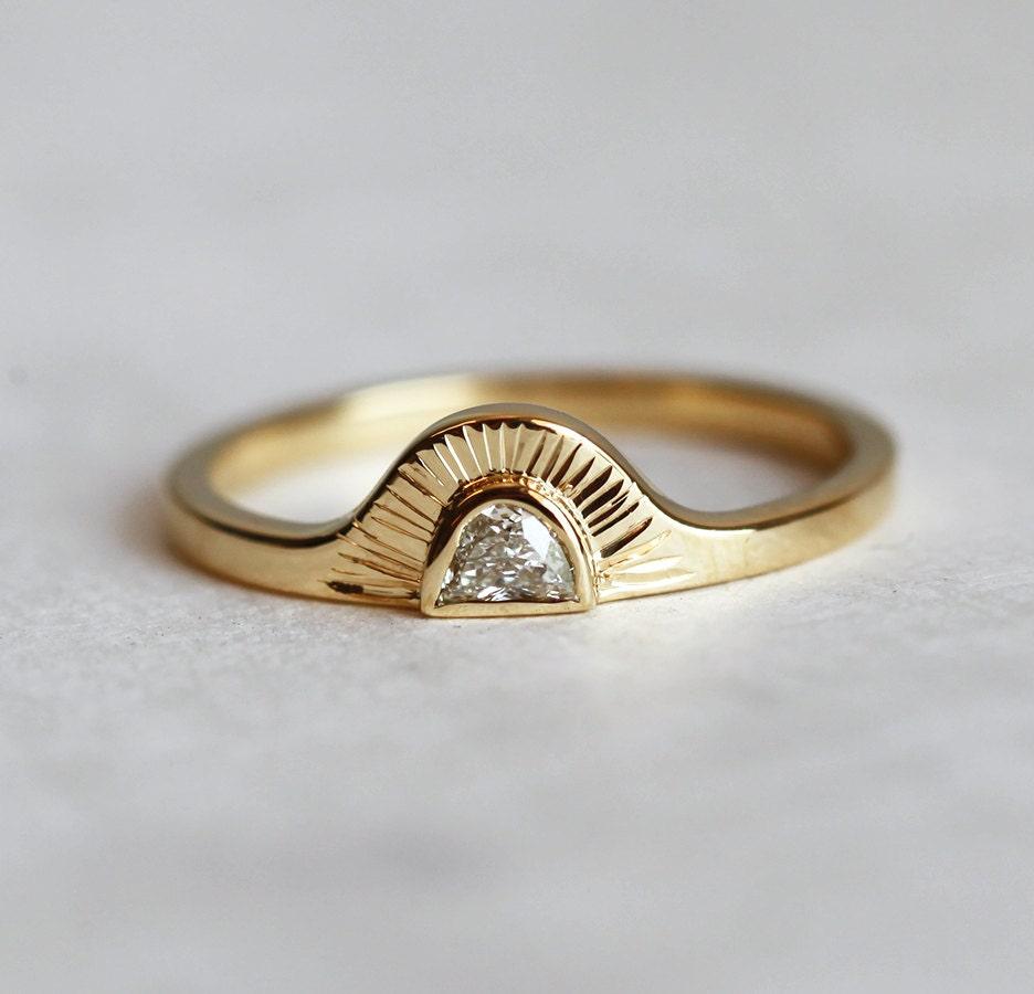 zoom - Bohemian Wedding Rings