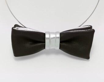 Bow tie necklace silver Auric courtesan Cup women
