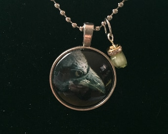 Handmade Crow Necklace with Charm
