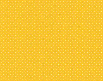 1 Yard- Yellow Swiss Dot by Riley Blake Designs- 670 Mustard