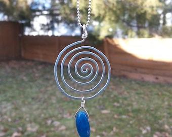 Swirl Kyanite Necklace
