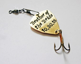 Fishing Lure, For Him, Boyfriend Gift, Personalized Fishing Lure, Hand Stamped Fishing Lure, Boyfriend Gift, Anniversary for Him, Valentines