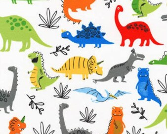 Bright (Primary) Dinosaurs from Robert Kaufman's Dinoroar Collection by Sea Urchin Studios