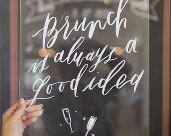 Gorgeous acrylic wedding signs to buy or diy