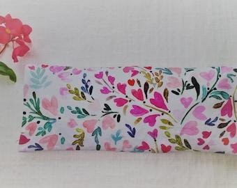 Valentine Gift, 100% Organic Eye Pillow, Bridesmaid, Mother, Grandmother, Aromatherapy, Yoga, Sleep Aid, Headache, Hot Pad, Cold Pad, Stress