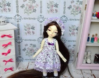 Outfit Sissou flower Purple [BJD YoSD 1/6.