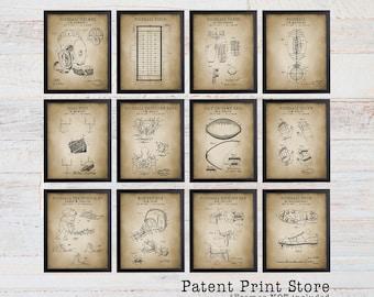 Vintage Football Patent Print Set. Football Art Print. Football Prints. Football Nursery Decor. Football Bedroom. Football Patent. Gift. 213