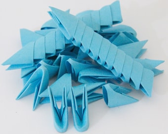 250pcs Ocean Blue 3D Origami Paper Triangles